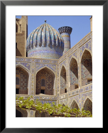 Shyr-Dor Madrasah (Madressa) 1636, Registan Square, Samarkand, Uzbekistan, Asia by Christopher Rennie Pricing Limited Edition Print image