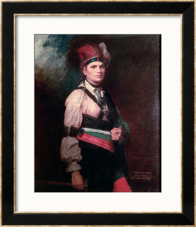 Joseph Brant, Chief Of The Mohawks, 1742-1807 by George Romney Pricing Limited Edition Print image