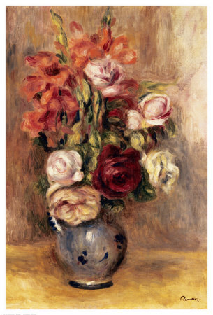 Vase Of Gladiolas And Roses by Pierre-Auguste Renoir Pricing Limited Edition Print image