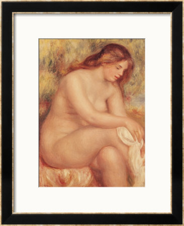 Bather Drying Herself, Circa 1910 by Pierre-Auguste Renoir Pricing Limited Edition Print image