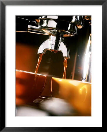 Two Cups Under A Coffee Machine by Ludger Rose Pricing Limited Edition Print image