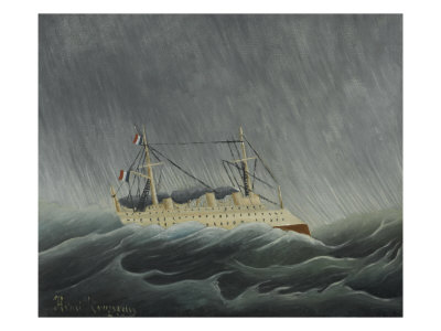 Ship In A Storm by Henri Rousseau Pricing Limited Edition Print image