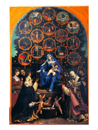 Madonna Of The Rosary (Cingoli Altarpiece) by Romanino Pricing Limited Edition Print image