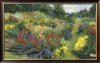 Garden With Red And Purple by Carol Rowan Pricing Limited Edition Print image