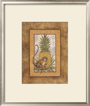 Marmoset With Pineapple I by Debra Swartzendruber Pricing Limited Edition Print image