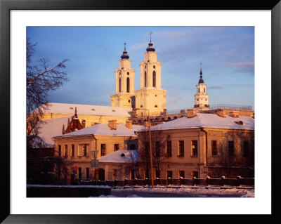 Exteriors Of Former Town Hall And Twin-Towered Jesuit Church, Kaunas, Lithuania by Jonathan Smith Pricing Limited Edition Print image