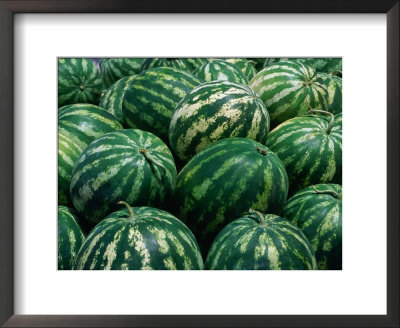 Watermelon For Sale, Trapani Market, Trapani, Sicily, Italy by Dallas Stribley Pricing Limited Edition Print image