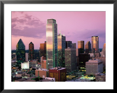 Downtown At Dusk From Reunion Tower, Dallas, Texas by Witold Skrypczak Pricing Limited Edition Print image