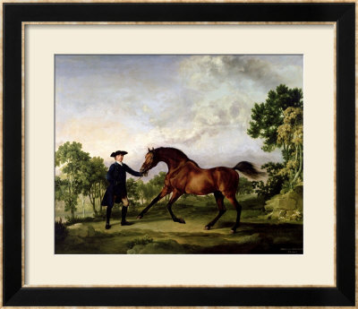 The Duke Of Ancaster's Bay Stallion Blank, Held By A Groom, Circa 1762-5 by George Stubbs Pricing Limited Edition Print image