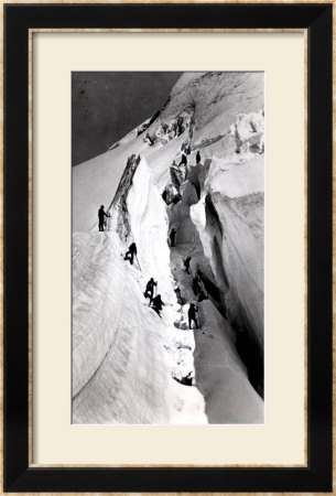 Climbers Ascending Mont Blanc, Circa 1860 by Bisson Freres Studio Pricing Limited Edition Print image