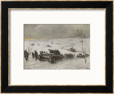 German Tank Column Accompanied By Infantry Advances Into Russia by Schnurpel Pricing Limited Edition Print image