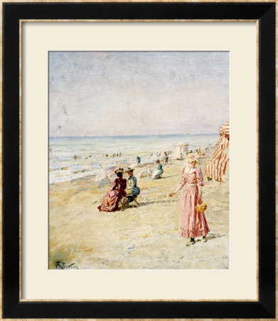 La Plage, Ostende by Alfred Emile Léopold Stevens Pricing Limited Edition Print image