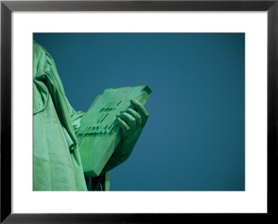 A Close View Of The Book Held By The Statue Of Liberty by Joel Sartore Pricing Limited Edition Print image