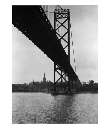 Ambassador Bridge In Detroit, 1935 by Scherl Pricing Limited Edition Print image