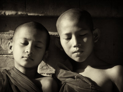 Monk Boys At Temple In Pagan, Myanmar by Scott Stulberg Pricing Limited Edition Print image