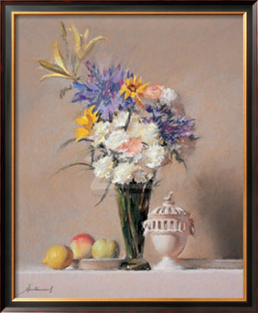 White Carnations And Porcelain by Felipe Santamans Pricing Limited Edition Print image