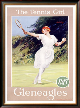 Gleneagles/The Tennis Girl by Septimus Scott Pricing Limited Edition Print image