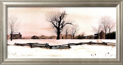 Late Snow At Riverwood by Bob Timberlake Pricing Limited Edition Print image
