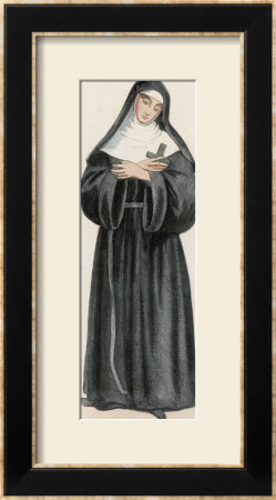 Ursuline Nun Devoted To Saint Ursula Massacred And Buried At Koln by L'abbe Tiron Pricing Limited Edition Print image
