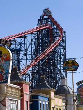 The Big One, The 235Ft Roller Coaster (Europe's Largest) At Pleasure Beach, Blackpool, England by Natalie Tepper Pricing Limited Edition Print image