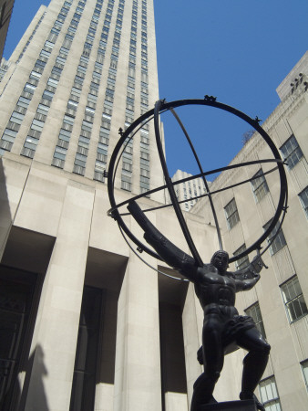 Rockefeller Center, New York City, 1932 - 40, Atlas Statue By Lee Lowrie And Rene Chambellan, 1937 by Natalie Tepper Pricing Limited Edition Print image