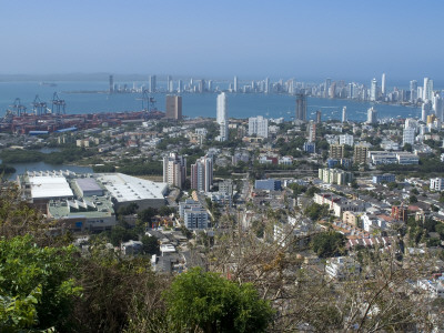 View Over The Modern City From The Convento Santa Cruz La Popa, Cartagena, Colombia by Natalie Tepper Pricing Limited Edition Print image