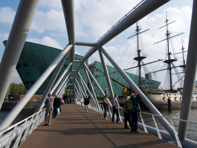 Bridge Over The Eastern Dock To Nemo, The Netherland's Largest Science Museum, Amsterdam by Natalie Tepper Pricing Limited Edition Print image
