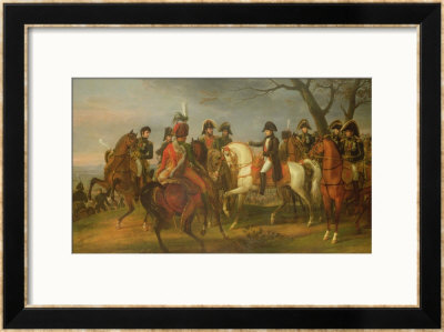 Napoleon Giving Orders Before The Battle Of Austerlitz, 2Nd December 1805, 1808 by Antoine Charles Horace Vernet Pricing Limited Edition Print image
