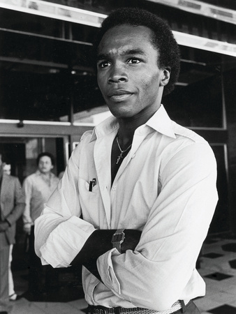 Sugar Ray Leonard Attends Larry Holmes Vs. Muhammad Ali Wbc Championship Fight, October 2, 1980 by Patterson Vaughan Pricing Limited Edition Print image