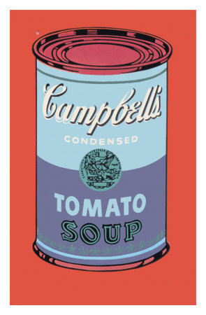 Campbell's Soup Can, C.1965 (Blue And Purple) by Andy Warhol Pricing Limited Edition Print image