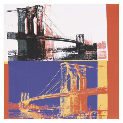 Brooklyn Bridge, C.1983 (Black Bridge/White Background) by Andy Warhol Pricing Limited Edition Print image