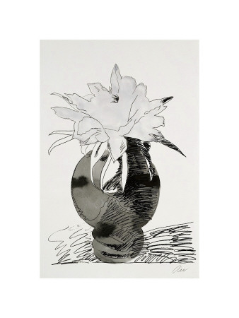 Flowers, C.1974 (White Flower In Black Vase) by Andy Warhol Pricing Limited Edition Print image