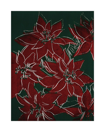 Poinsettas, C.1982 (Red On Green) by Andy Warhol Pricing Limited Edition Print image