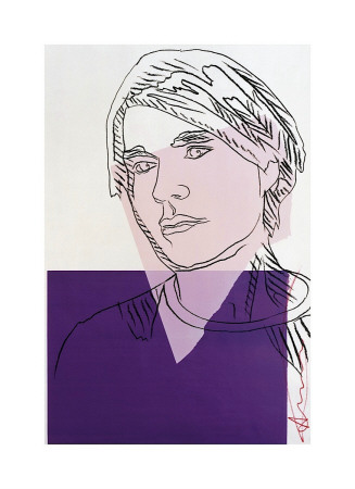Self-Portrait, C.1978 (Purple And White) by Andy Warhol Pricing Limited Edition Print image