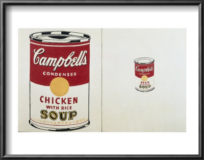 Campbell's Soup Can, C.1962 (Chicken With Rice And Bean With Bacon) by Andy Warhol Pricing Limited Edition Print image