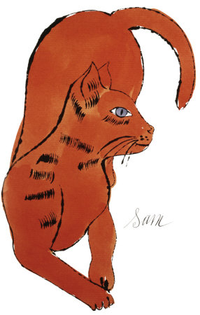 25 Cats Named Sam And One Blue Pussy By Andy Warhol, C.1954 (Red Sam) by Andy Warhol Pricing Limited Edition Print image