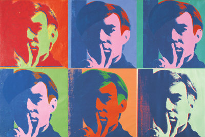 A Set Of Six Self-Portraits, C.1967 by Andy Warhol Pricing Limited Edition Print image