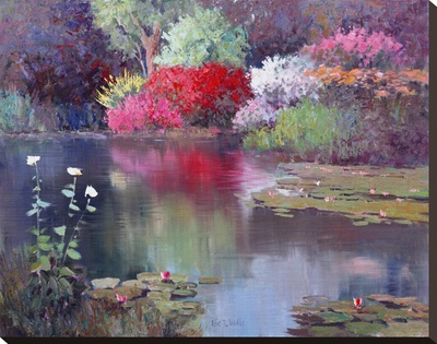 Glowing Watergarden by Kent Wallis Pricing Limited Edition Print image