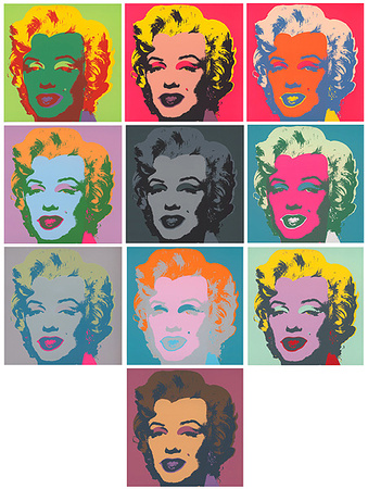 Marilyn Kopf Pink - Set Of 10 by Andy Warhol Pricing Limited Edition Print image