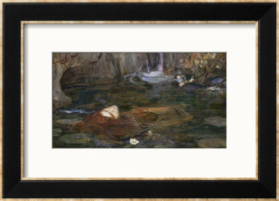 The Head Of Orpheus by John William Waterhouse Pricing Limited Edition Print image