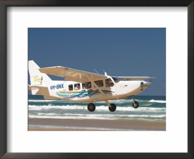 Plane, Seventy Five Mile Beach, Fraser Island, Queensland, Australia by David Wall Pricing Limited Edition Print image