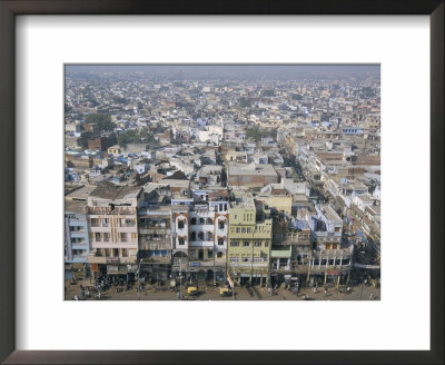 Centre Of Old Delhi, Seen From Minaret Of Jamia Mosque, Delhi, India by Tony Waltham Pricing Limited Edition Print image