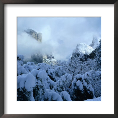 Winter Covers El Capitan And Bridal Vale Falls, Yosemite National Park, California, Usa by Wes Walker Pricing Limited Edition Print image