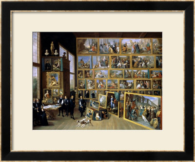 The Archduke Leopold Wilhelm (1614-62) In His Picture Gallery In Brussels, 1651 by David Teniers The Younger Pricing Limited Edition Print image