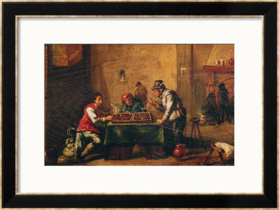 Men Playing Backgammon In A Tavern by David Teniers The Younger Pricing Limited Edition Print image