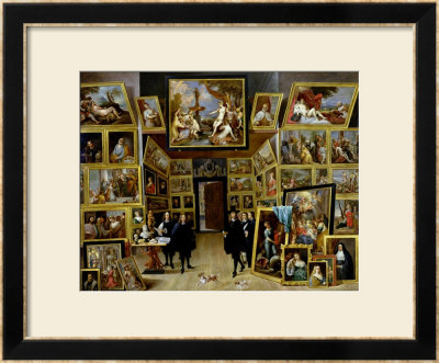Archduke Leopold Wilhelm (1614-61) In His Picture Gallery, Circa 1647 by David Teniers The Younger Pricing Limited Edition Print image