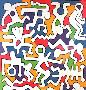 Untitled (Palladium Backdrop Detail) by Keith Haring Limited Edition Pricing Art Print